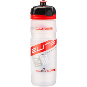 Elite Super Corsa Bidón 750ml, transparent/red